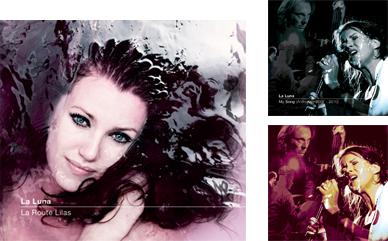 La Luna - cd-hoes 'La Route Lilas', 'My Song' + promofoto (foto (links): Arjan Benning • logoconcept: pure&simple)