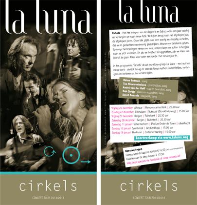 La Luna - flyer concerttour 'Cirkels' (basisconcept: Tirza Teule)