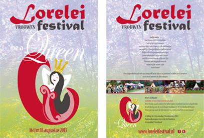 Lorelei Festival 2013 'Be a Queen' - flyer
